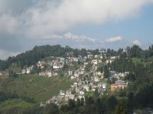 03 darjeeling mit blick auf den höchsten berg indiens (khangchendzonga - 8598m)