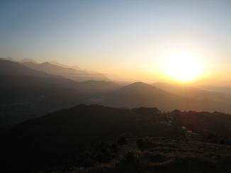 12 sonnenaufgang über pokhara
