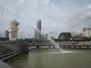 04 der merlion - das wahrzeichen singapurs