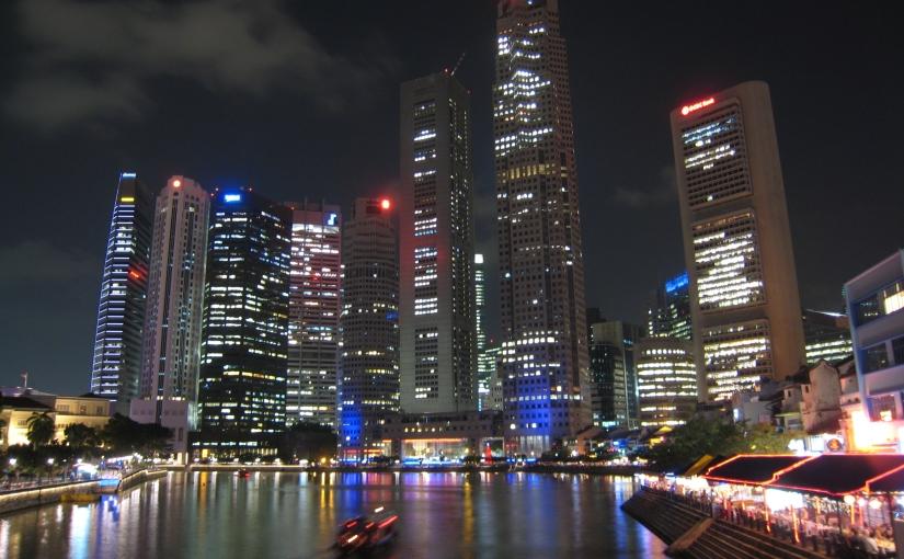 Stadt, Land, Fluss und sogar Insel mit S…Singapur
