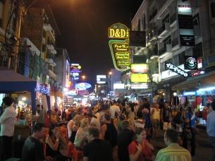 09 khao san road am abend