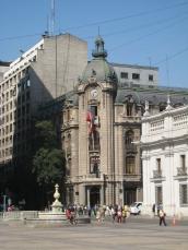 01 Koloniales Gebäude in Santiago