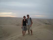 05 Wir auf der Sanddüne