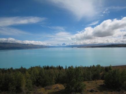 06 Lake Pukaki mit Mount Cook (3755m) im Hintergrund