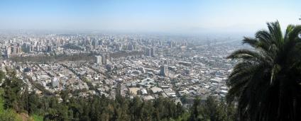 07 Panoramablick auf Santiago vom Cerro San Christobal