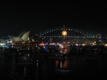 08 Lichteffekte an Opera House und Harbour Bridge
