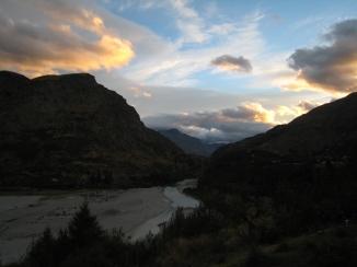 09 Sonnenuntergang über dem Shotover River
