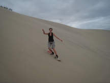 11 Utes erste Sandabfahrt