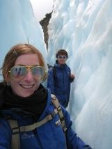 12 Wir in einer Gletscherspalte