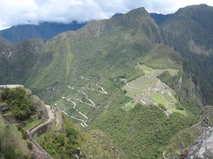 16 Blick auf Machu Picchu von Wayna Picchu